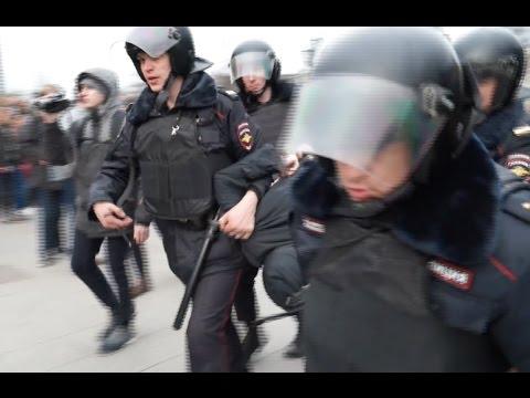 Протесты и задержания в Москве, хроника 26 марта • Moscow: Arrests as Russians defy protest bans