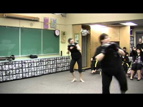 Ladies Kickboxing Punch Kick Combo Demo Image 1