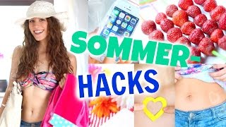 8 coole SOMMER HACKS! Abkühlen, Sonnen-Tattoos, Cola-Slushy...♡ BarbieLovesLipsticks