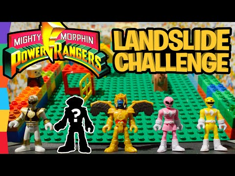 Power Ranger Toys Lego Landslide Challenge ft Kimberly Ann Hart. Tommy Oliver. and Alpha 5 by ToyRap