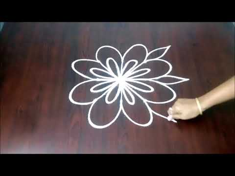 How To Draw Simple Dots Rangoli Design Easily 3 x 3  ||  Beginners Easy Kolam || Fashion World