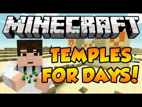 Minecraft 1.6.2 Seed Spotlight - 4 TEMPLES. STRONGHOLD NEAR SPAWN!