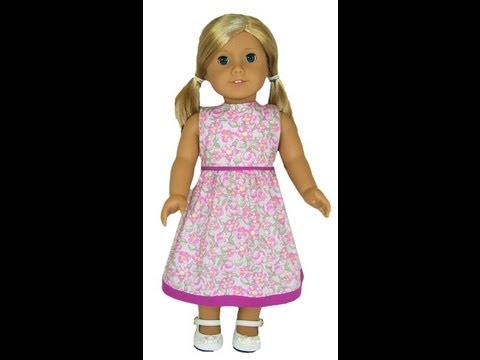 American Girl Doll Clothes Patterns Summer Dress