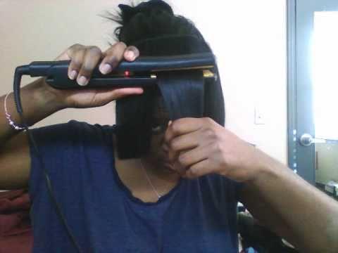 Chocolate hair DIY clip in bangs