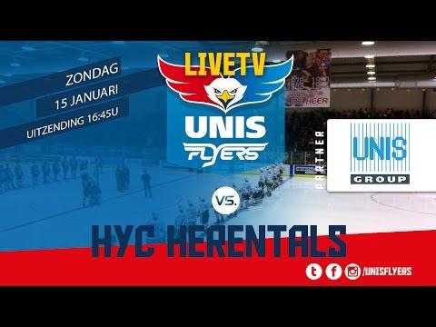 Livestream Unis Flyers - HYC Herentals 15 januari 2017