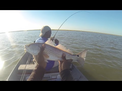 Drift Fishing For Redfish & Speckled Trout in Galveston ...