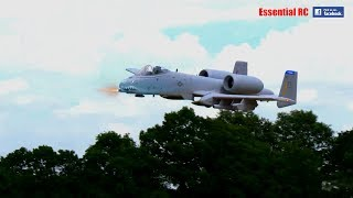 Freewing A-10 THUNDERBOLT II EDF jet with added  GAU-8/A Avenger cannon FIRE and BRRRTTT !