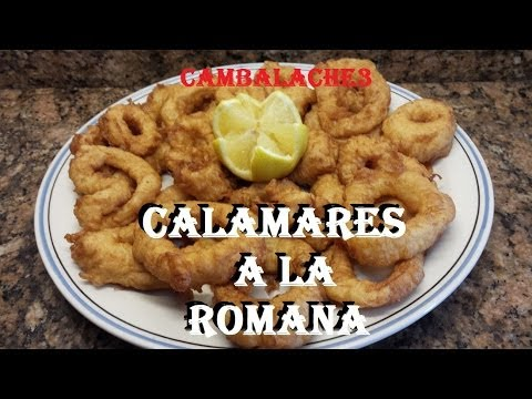CALAMARES A LA ROMANA (CON TEMPURA)
