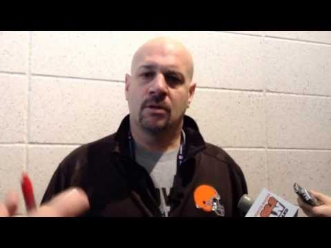 Browns coach Mike Pettine addresses Jim Harbaugh report at NFL Combine