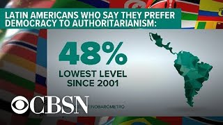 Support for democracy declining in Latin America, report says