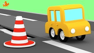 TARMAC TRUCKS! - Cartoon Cars - Road Repair Cartoons for Children - Videos for Kids