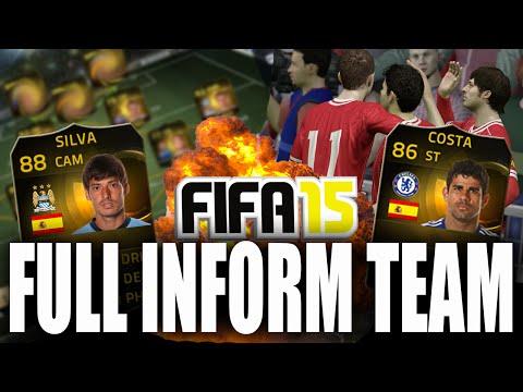 FULL INFORM TEAM WITH FULL CHEM   FIFA 15 Ultimate Team
