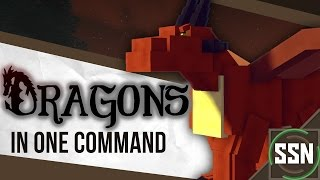Minecraft - Dragons | RIDE, FLY, AND SHOOT FIREBALLS [One Command] [Mythical Creature #1]