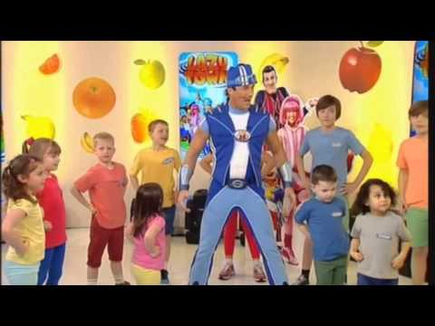 LazyTown - Sportacus on TV show, GB /Лентяево - ТВ-шоу со Спортакусом, Великобритания (Megalicense)