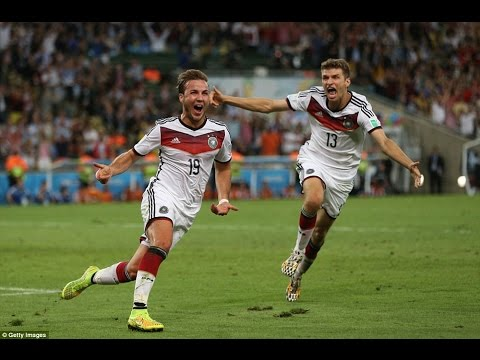 Mario Gotze Scores Amazing Goal For Germany - World Cup 2014