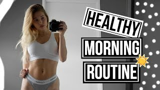MY HEALTHY MORNING ROUTINE 2017 | Workout & Breakfast