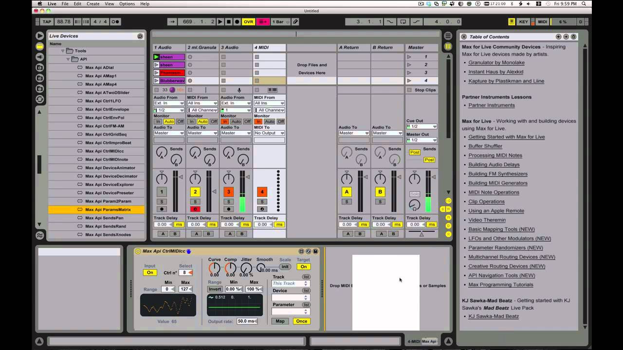 how to add bias to ableton live
