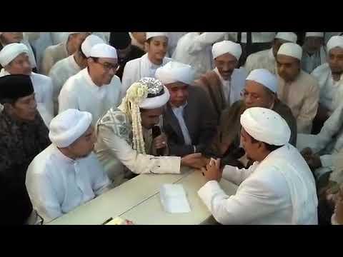 Mengabadikan Video Akad Nikah Habib Hanif Dengan Syarifah Zulfah (Putri Imam Besar FPI)