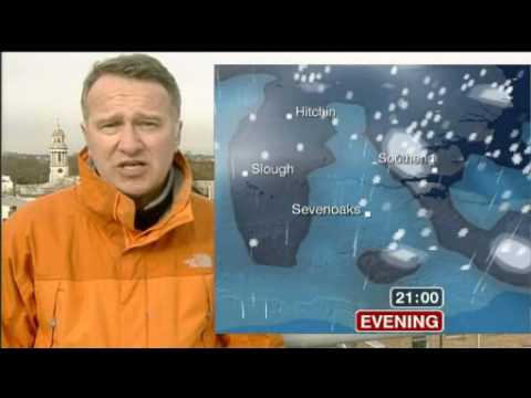 UK Snow Coverage - 12th February 09 (BBC London)