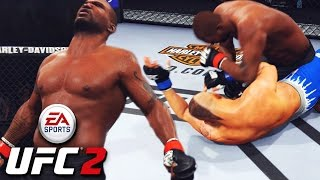 Rampage Jackson Giving Concussions! RAW POWER! EA Sports UFC 2 Online Gameplay