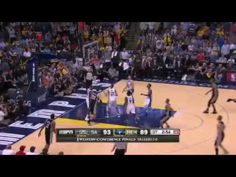 NBA CIRCLE - San Antonio Spurs Vs Memphis Grizzlies Game 3 Highlights - 25 May 2013 Western Final