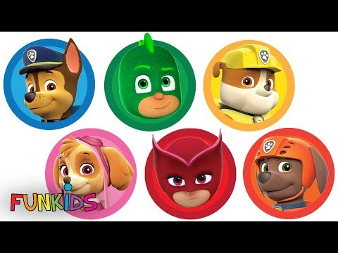 Magic Rainbow Playdoh Paw Patrol with PJ Masks