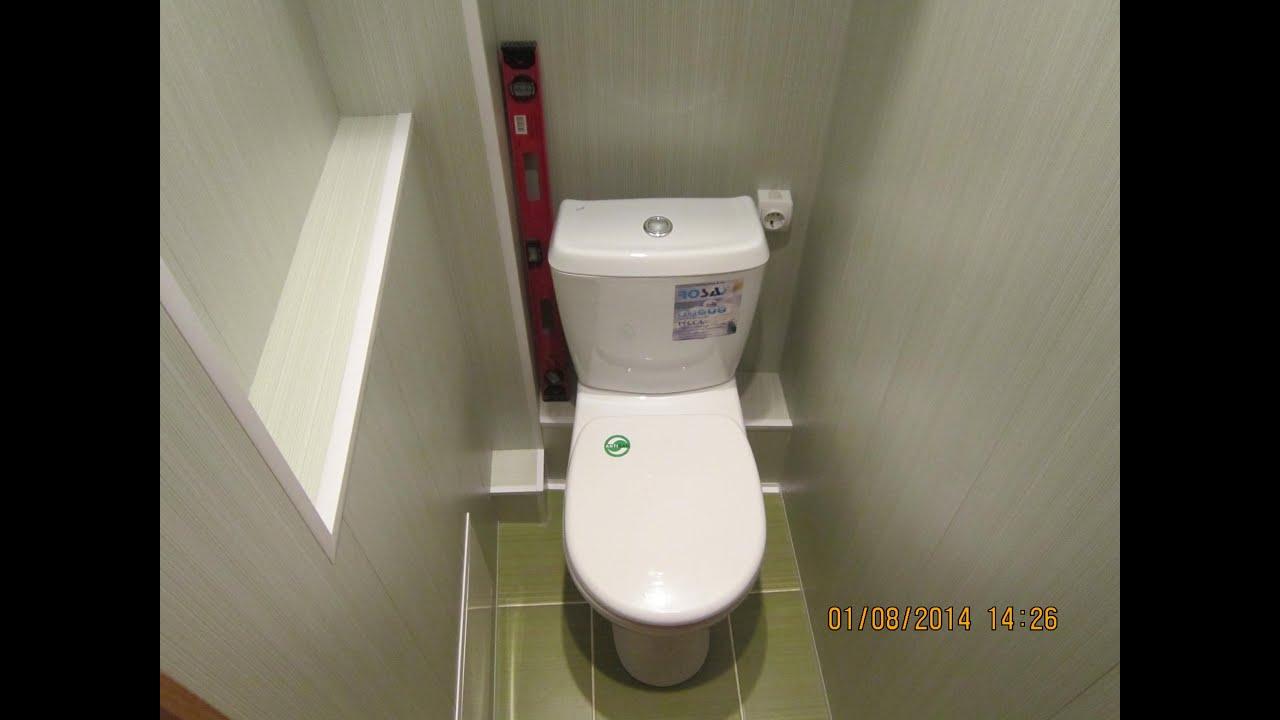 Отделка туалетов панелями своими руками