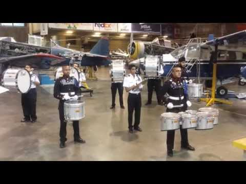 Aviation High School Color Guard Drill Team: Drum Corp