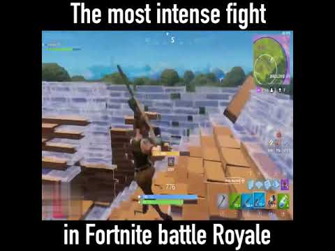 By far The most intense fight in FORTNITE battle royale😱😰