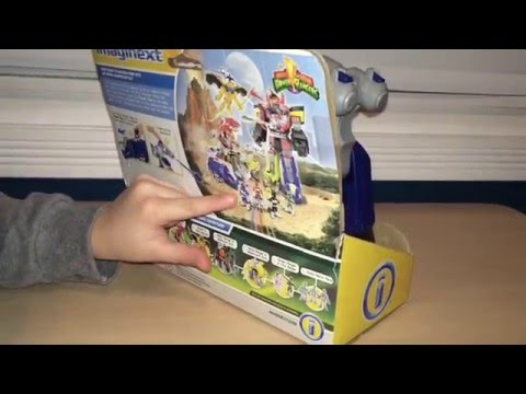 Eli's Toy Review: Imaginext Power Rangers - Blue Ranger & Triceratops Zord