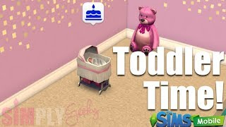 Aging our Baby Girl to Toddler - The Sims Mobile Game