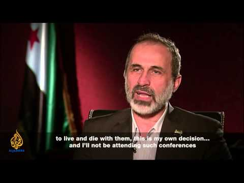 Talk to Al Jazeera - Moaz al-Khatib: The priority is to save Syria