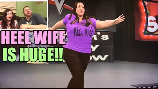 HEEL WIFE REACTS TO FUNNY FAN MADE CAW of HERSELF! Hilarious WWE 2K16 Diva Match ps4 Gameplay