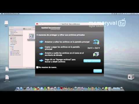 Aplicacion SecureAccess para memorias USB de SanDisk
