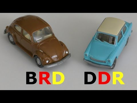 Tag Der Deutschen Einheit 2017 - 03.Oktober 1990 Autos DDR - BRD 1:87 - Reunion Of German Cars