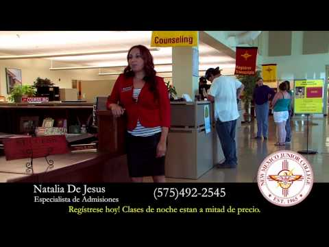 New Mexico Junior College Spanish Ad - Natalia De Jesus - Half Price Evening Classes