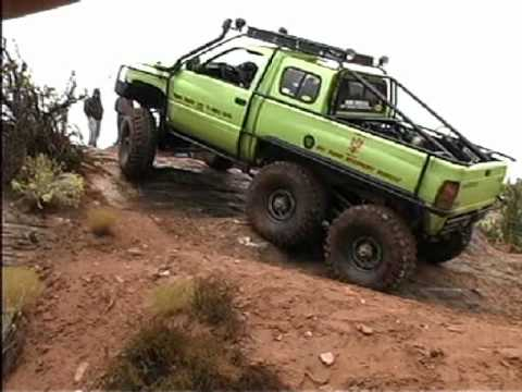 Dodge T-Rex 6x6 Rolls over camera man. - YouTube