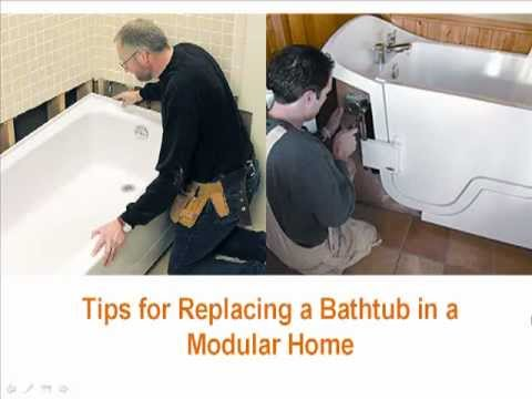Tips For Replacing A Bathtub In A Modular Home Youtube