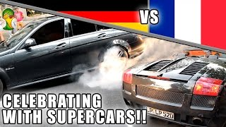 FOOTBALL CELEBRATION - GALLARDO, C63 BURNOUT, SLS,...