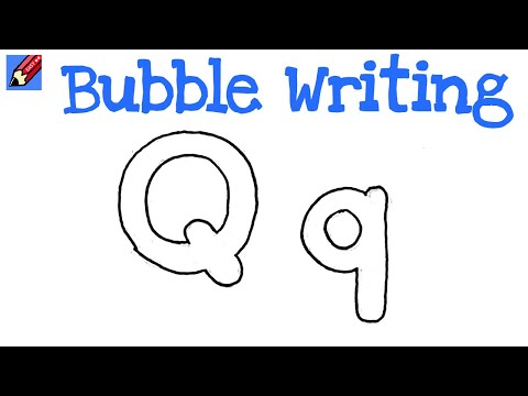 Q Bubble Letter How to Draw Bubble Writing