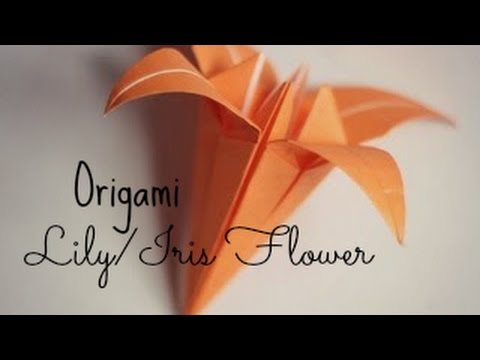 origami iris flower instructions youtube