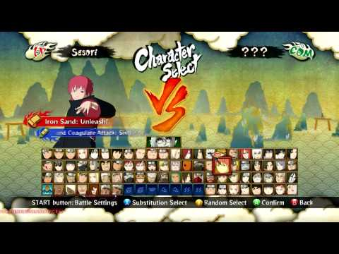 Naruto Ultimate Ninja Storm 3 Full Burst - All Characters Unlocked (with DLC's Exclusive).
