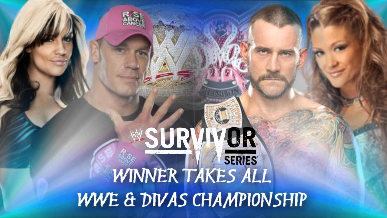 Wwe Kaitlyn And John Cena Kiss John Cena  amp Kaitlyn vs