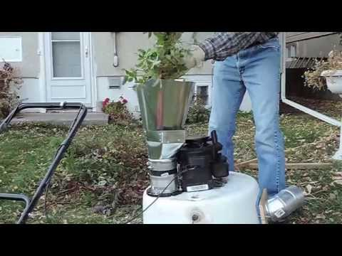 Homemade Leaf Shredder Collection System How To Save