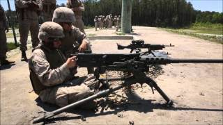 US Heavy Light Machine Guns Compilation M2 50 Cal M240 Bravo M249 live firing by US Army and Marines