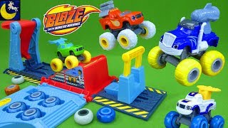 Blaze and the Monster Machines Toys Crusher Tune & Jump Garage Pickle Tires Mix and Match Playset