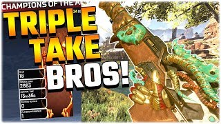 The TRIPLE TAKE Brothers!! (Apex Legends PS4)
