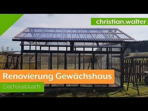 Treibhaus / Gewächshaus Renovierung mit  Welldachplatten