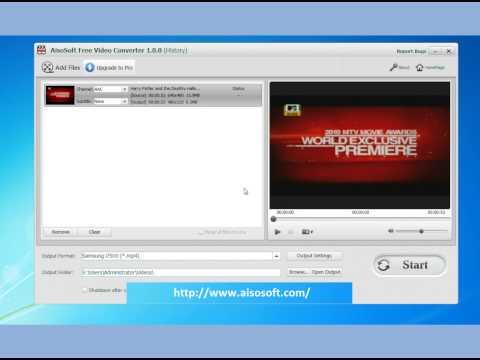 Видео HD: Free Samsung i7500 Video Converter - Free Video Converter for i75