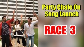 Party Chale On Song Launch Race 3 Salman Khan Mika Singh Iulia Vantur Vicky Hardik